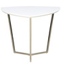 Triangular End Table in White Colour by Parin