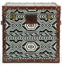 Tribal Textile Genuine Leather Trunk By Studio Ochre