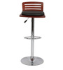 Trimy Bar Chair in Brown and Black Color by The Furniture Store