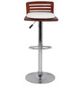 Trimy Bar Chair in Brown and White Color by The Furniture Store