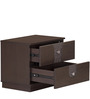 Triumph Night Stand with Two Drawers in Dark Walnut Colour by @home