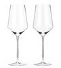 True Viski Raye Crystal Bordeaux Red Wine Glasses - Set of 2