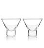True Viski Raye Stemless Martini Glasses - Set of 2