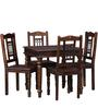 Henfrey Four Seater Dining Set in Provincial Teak Finish by Amberville