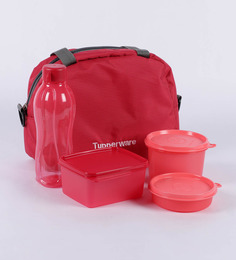 Tupperware Sling-A-Bling Lunch Box - Set Of 5 Including Bag