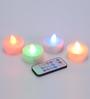 Tu Casa Multicolour LED Tealight - Set of Four