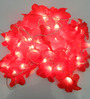 Tu Casa Downward Red Plastic Flower String Light
