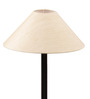 The Light House Khadi Shade Black Metal Floor Lamp