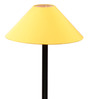 The Light House Yellow Shade Black Metal Floor Lamp