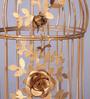 Tu Casa Brass Bird Cage Candle Holder - L