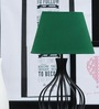Tu Casa Oval Green Poly Cotton Lamp Shade