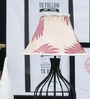 Tu Casa Off-white & Maroon Poly Silk Pyramid Lamp Shade