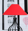 Tu Casa Pyramid Red Poly Cotton Lamp Shade