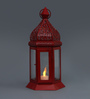 Tu Casa Red LED Moraccan Candle Holder