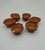 Tu Casa Brown Plastic LED Tea Lights – - Set of 6