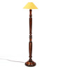 The Light House Yellow Shade Vintage Wood Floor Lamp
