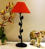 Tu Casa Conical Red Metal Table Lamp