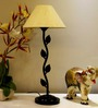 Tucasa Table Lamp With Conical Shade - Soft Yellow