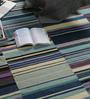 Tulsiram Rugs Multicolour Wool 90 x 63 Inch Geometric Carpet