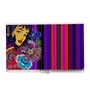 Tungs10 Color Me Pop Graphic Lady Stainless Steel Card Holder
