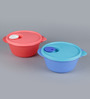 Tupperware Crystal Wave Round 800 ML Airtight Container - Set of 2