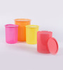 Tupperware Multicolor Plastic One Touch Canister - Set of 4