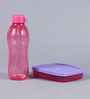 Tupperware Pink Plastic Bottle with Lunch Box