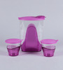 Tupperware Purple Plastic Eleganzia Pitcher with Tumbler Set - Set Of 2