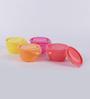 Tupperware Versa Colorfull Plastic 650 ML Bowl with lid - Set of 4