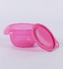 Tupperware Versa Pink Plastic 650ML Bowl with lid - Set of 4