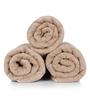 Turkish Bath Brown 100% Cotton 30 x 56 Bath Towel - Set of 3