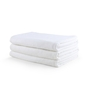 Turkish Bath White 100% Cotton 30 x 60 Bath Towel - Set of 3