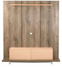 Natsumi Entertainment Wall Unit in Oak and Maple Finish by Mintwud