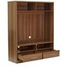 Satomi Entertainment Wall Unit in Walnut Finish by Mintwud