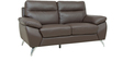 Two Seater Half Leather Sofa in Brown Colour by Star India