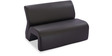 Two Seater Sofa in Black Colour by Durian