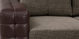 Two Seater Sofa in Light & Dark Brown Colour by Home Art Creations