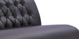 Two Seater Sofa with Tufted Back in Black Colour by Durian