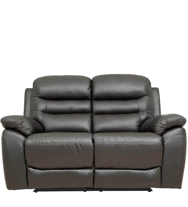 Leather Sofa Sale India: Buy Two Seater Motorized Recliner Sofa In Half Leather