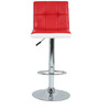Twin Bar Chair in Red & White by The Furniture Store