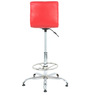 Twino Bar Chair in Black & Red by The Furniture Store