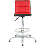 Twino Bar Chair in Red & Black by The Furniture Store