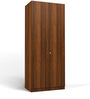 Two Door Compact Wardrobe in MDF with Classic Walnut Finish by Primorati