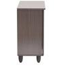 Jurou Two Door Shoe Cabinet in Two Tone Wenge Finish by Mintwud