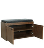 Two Door Shoe Rack with Seat in Brown Colour by Parin