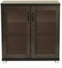 Chikako Two Door Storage Cabinet In Wenge Finish by Mintwud