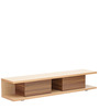 Natsumi Entertainment Unit with Two Drawers in Oak and Maple Finish by Mintwud