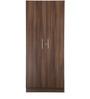 Two Door Wardrobe in Acacia Dark Matt Finish by Debono