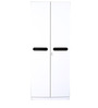 Two Door Wardrobe in Black & White Colour by Parin