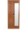 Two Door Wardrobe with Mirror in Dark Walnut Finish by Parin